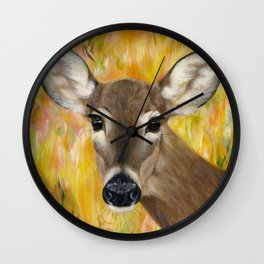 Deer Spirit Wall Clock