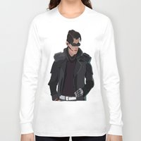 cyberpunk Long Sleeve T-shirts featuring Cyberpunk Male Character by Jude Beavis
