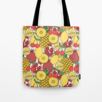 fruit Tote Bags featuring Fruit by Valendji