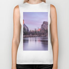 Yosemite National park sunset Biker Tank