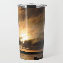 Misty Sunset on the PI Basin Travel Mug
