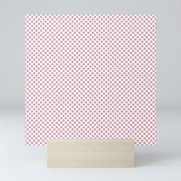 Sea Pink Polka Dots Mini Art Print