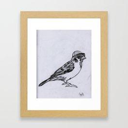 Nerdy Birdy Framed Art Print