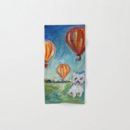 Westie eyes Hot Air Balloons Hand & Bath Towel