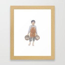 Bucket Boy Framed Art Print