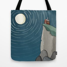 House on a Cliff Tote Bag