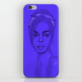 Joan in purple iPhone Skin