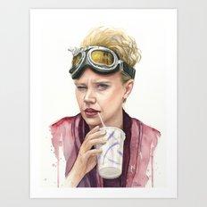 Jillian Holtzmann Portrait | Ghostbusters Art Painting Art Print