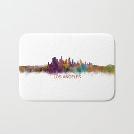 Los Angeles City Skyline HQ v2 Bath Mat