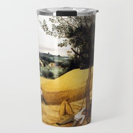 The Harvesters Painting by Pieter Bruegel the Elder Travel Mug
