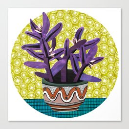 Purple Heart Collage by Veronique de Jong Canvas Print