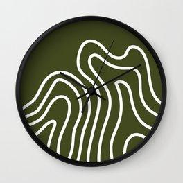 Leaf Thumbprint Wall Clock