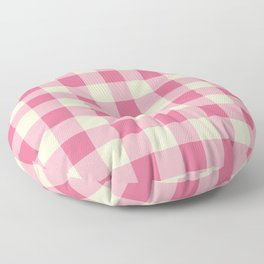 pink plaid - pink checkered Floor Pillow