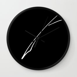 White Writer's Quill Wall Clock