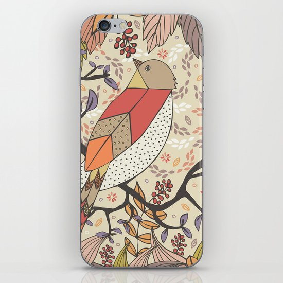 Singing Red Bird iPhone & iPod Skin