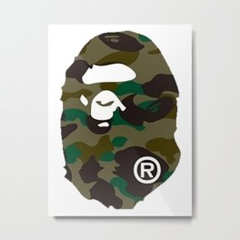 Bathing 1ST CAMO APE HEAD Metal Print