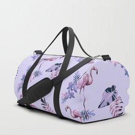 Lilac Flamingo Toille Duffle Bag