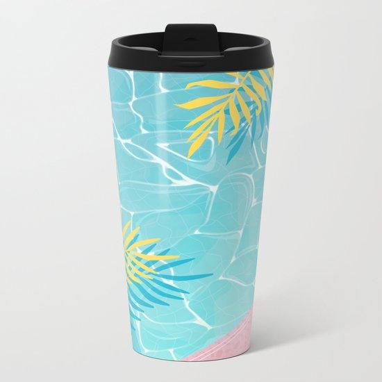 Tropical pool chill Metal Travel Mug