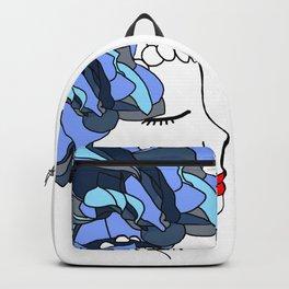 Blue Rose Headpiece Backpack