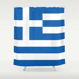 Flag of Greece, High Quality image Shower Curtain