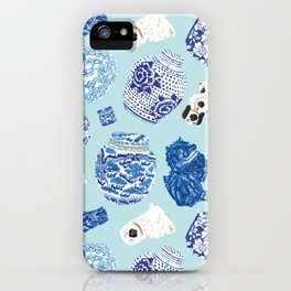 Chinoiserie Curiosity Cabinet Toss 4 iPhone Case