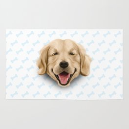 happy dog Rug