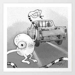 The Bad Driver Pet Peeve Art Print