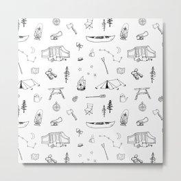 Simple Camping Metal Print