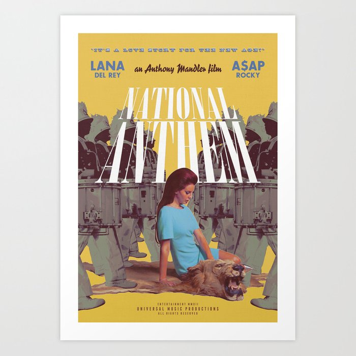 National Anthem music video poster Kunstdrucke