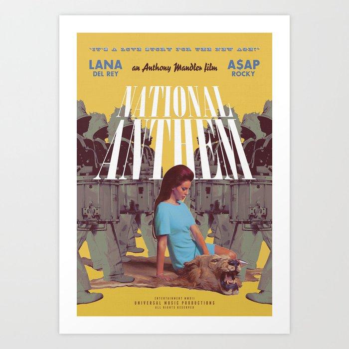 National Anthem Music Video Poster Art Print By Trashmagic Society6