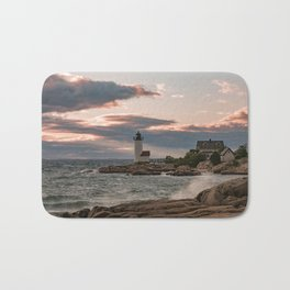 Annisquam Lighthouse sunset Bath Mat