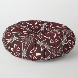 Red and White pattern Floor Pillow
