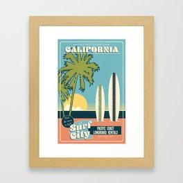 Surf City Framed Art Print