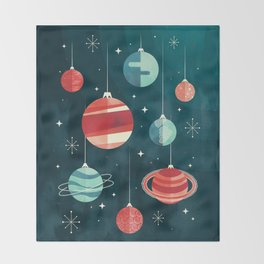 Joy to the Universe (in Teal) Throw Blanket