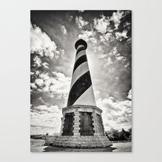 Cape Hatteras Lighthouse, Outer Banks NC (Black & White/Sepia-toned) Canvas Print