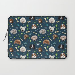 puppy party repeating pattern Laptop Sleeve