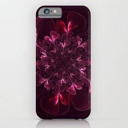 Flower In Bordo iPhone Case