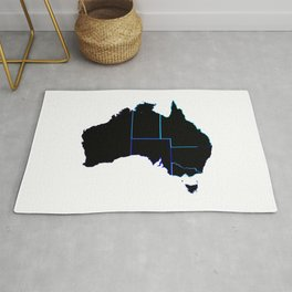 Australia States In Silhouette Rug