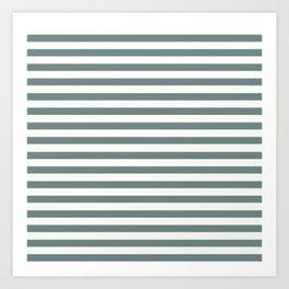 Blue Green Stripes Art Print
