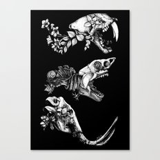 Prehistoric Bloom (Black version) Canvas Print