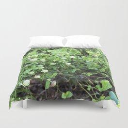 Green forest berries Duvet Cover