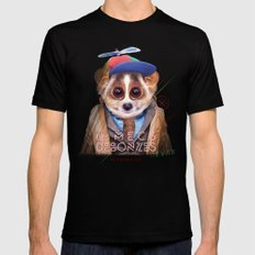 Loris SMALL Black Mens Fitted Tee