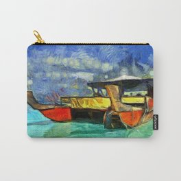 Tropical Vaka Boat of Aitutaki Carry-All Pouch