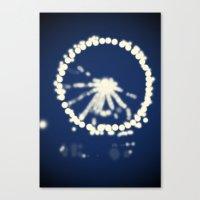 ferris wheel Canvas Prints featuring Ferris Wheel  by Lauren Lee Design's