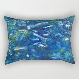 Blue Green Texture Rectangular Pillow