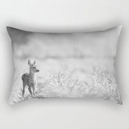 Baby Deer (Black and White) Rectangular Pillow