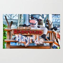 Back at the Barnyard Hayride Rug