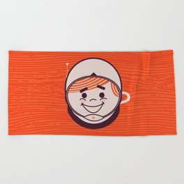 Retro Space Guy Beach Towel