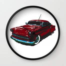 Red Sled Wall Clock