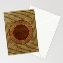 """Golden Circle Japanese Vintage"" Stationery Cards"